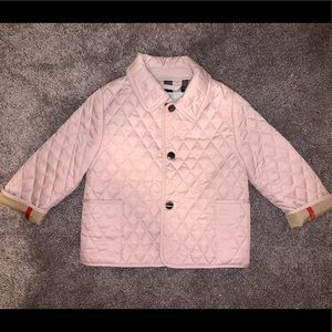Burberry baby girl 9 month quilted jacket